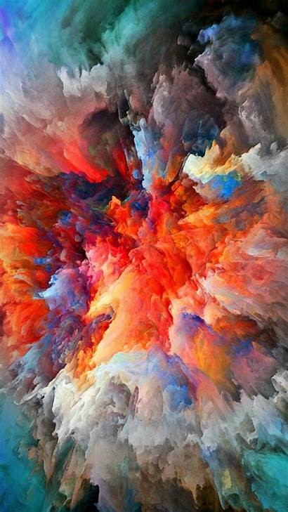 Iphone Galaxy Colorful Painting Watercolor Smoke Explosion