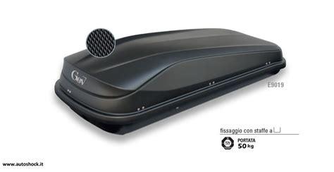 box portatutto auto gev baule da tetto gev easy 430 e9019 nero opaco autoshock