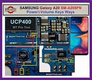 Samsung Galaxy A20 A205f Volume Key Ways Power Button Jumper