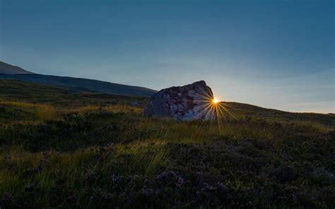 sunset  rannoch moor scotland photography wallpaper