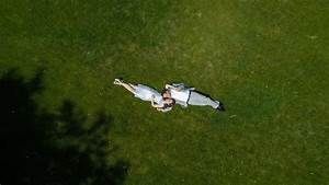 aerial engagement photos with drone duluth mn wedding With drone wedding photography