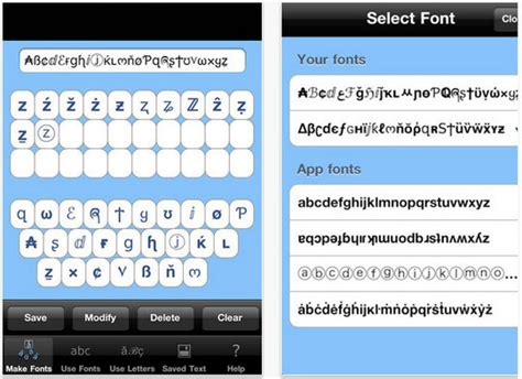 image gallery iphone font apps