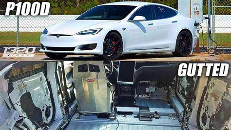 Gutted Tesla P100d Sets New Quarter Mile Record Drag