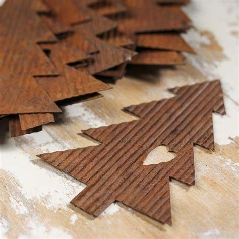 corrugated rusty tin pine trees rusty tin cutouts