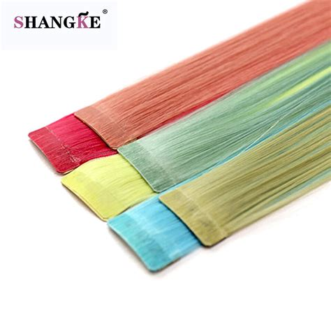 Shangke Long Colored 1 Clip In Hair Extensions Heat