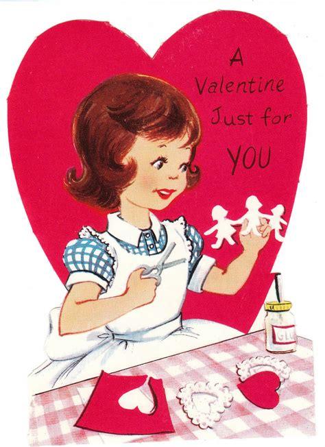 baby boomer vintage valentines  children  images