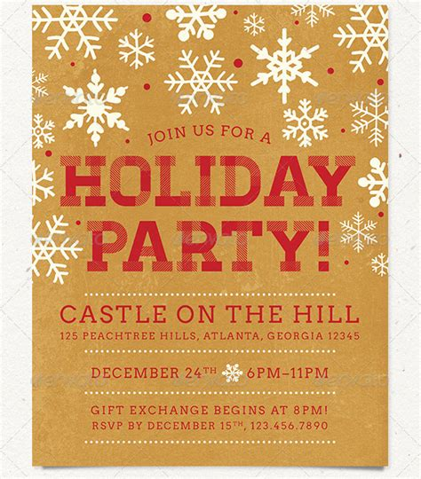 18 nice holiday flyer templates desiznworld