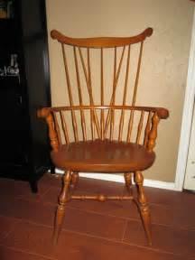 antique primitive colonial comb back fan back chair nichols more antique