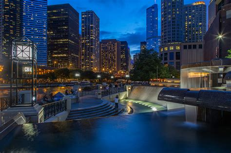 images chicago city usa stairway evening street lights cities
