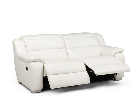 canap relax blanc canapé 2 places relax électrique cuir arena blanc canapé