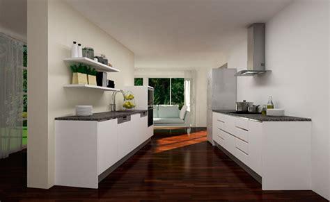 cocinas  muebles de cocina cocina paralela  puerta
