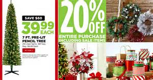 Hobby Lobby Pre Lit Christmas Trees by Michaels 7ft Pre Lit Pencil Tree Just 39 99 Shipped