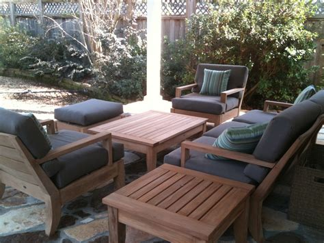 6 pc large teak wood garden indoor outdoor patio sofa set