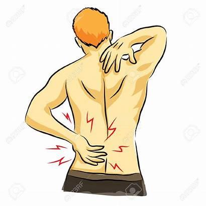 Pain Clipart Neck Waist Flank Vector Arm