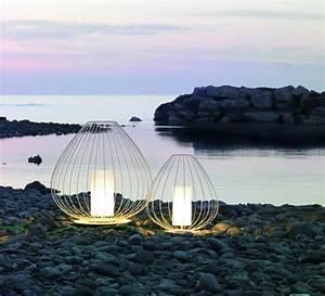 Lanterne Exterieur A Poser : lampe poser d 39 ext rieur cell blanc 90cm karman ~ Dailycaller-alerts.com Idées de Décoration