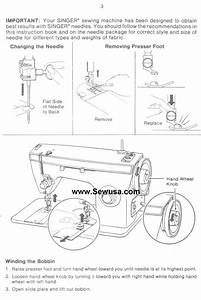 Instructions On Threading My Sewing Machine  Remember  Has To Go Through 2 Disks For Tension On