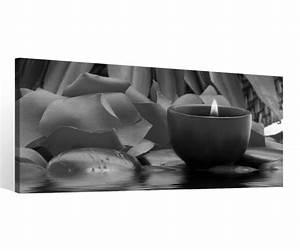 Schwarz Weiß Bilder Gerahmt : leinwand 1 tlg wellness schwarz wei kerze feng shui bilder wandbild bild 9c088 holz fertig ~ Watch28wear.com Haus und Dekorationen