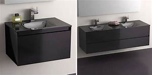 l39ambiance noire tendance With salle de bain design avec vasque lave main noir