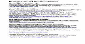 Stamford Generator 1250 Kva Wiring Diagram