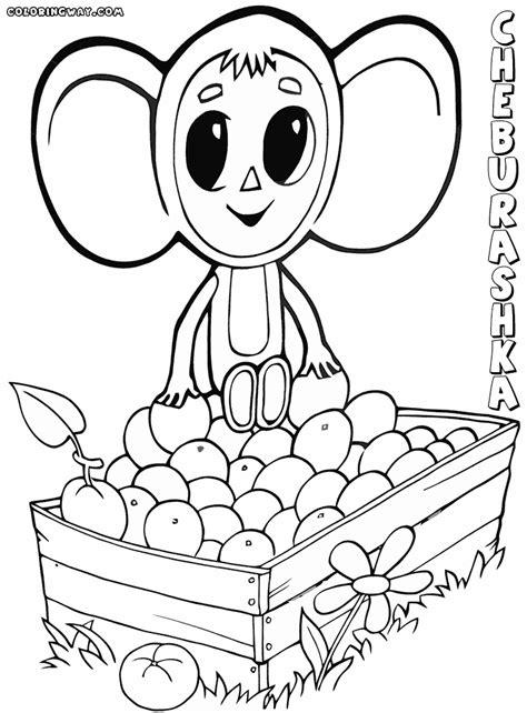 cheburashka coloring pages coloring pages