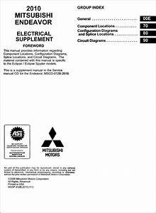 2010 Mitsubishi Endeavor Wiring Diagram Manual Original