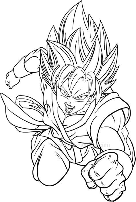 disegno  goku super saiyan  dragon ball super da colorare