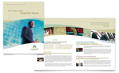 investment management brochure template design