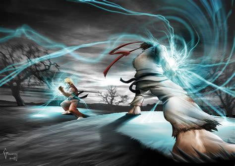 Ryu's Hadouken Vs Ken's By Mrlestat450 On Deviantart