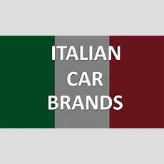 Italian Car Brands Youtube