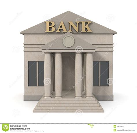 Banco Stock Bank Building Stock Illustration Illustration Of Money