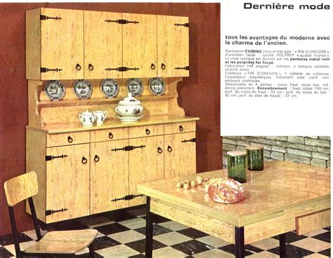 cuisine imitation bois mobilier vintage en formica le style populaire des ées 1960