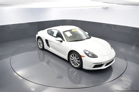 Yellow, toupe, teal, snow white pearl, scarlet red, polar. Certified Pre-Owned 2018 Porsche 718 Cayman Base 2D Coupe White in West Palm Beach #PC-PF27003 ...