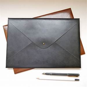 classic personalised a4 leather document folder by With leather document folder