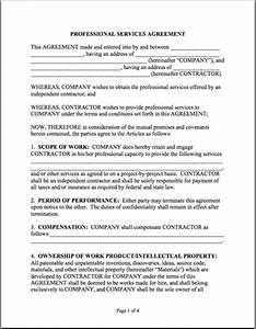 sample professional services agreement thrivingbusiness With contract for professional services template