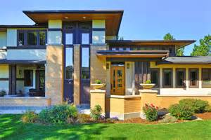 front to back split level house plans frank lloyd wright inspired porch front homes