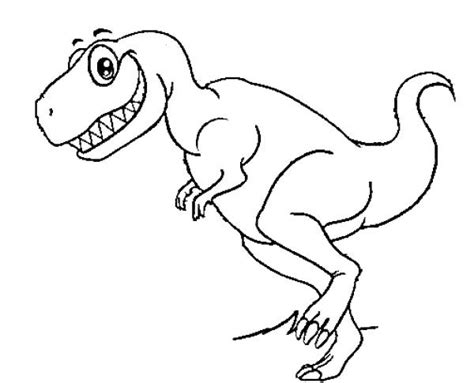 Funny T-rex Dinosaur Coloring Pages