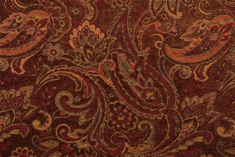 Tapestry Material Upholstery by M7789 Chenille Tapestry Upholstery Fabric In Pecan