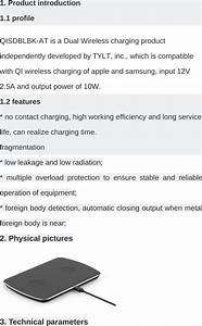 Tylt 510 Dual Wireless Charger User Manual Wd05