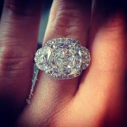 engagement rings with filigree cushion cut cushion cut ring with half moon