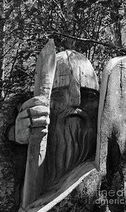 Tree Warrior 2 bw Donegal Ireland Photograph by Eddie Barron