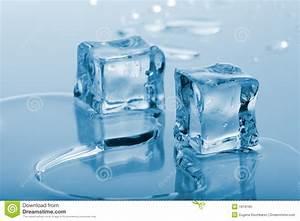 Blue Ice Cubes Stock Photo  Image Of Melting  Drop  Frigid