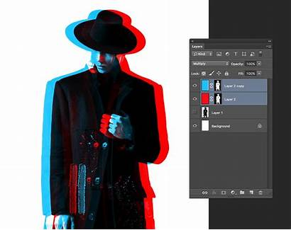 Effect 3d Photoshop Separation Anaglyph Replicating Graphic