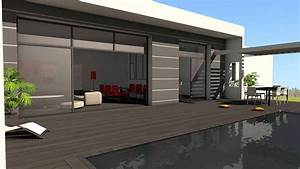 maison contemporaine d39architecte beton bois composite a albi With maison toit plat en l 17 le pool house de piscine