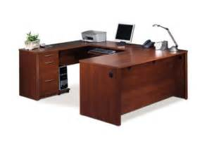 embassy tuscany brown u shaped computer desk by bestar furniture 60400 63 60610 63 60620 63