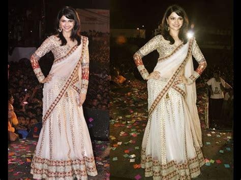 How To Drape Saree Perfectly - how to drape wear a saree in lehenga style perfectly