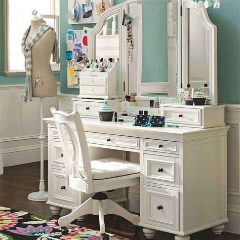 white makeup desk with sketch of modern dressing table with mirror vintage and