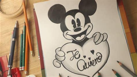 dibujando  mickey mouse  lapiz dibujos de amor youtube