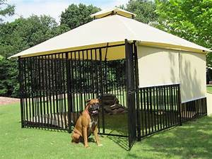 quotluxury dog housequot the exterior sun shades are a great With outdoor dog house ideas