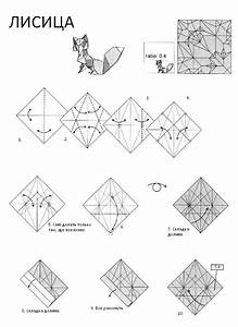 Free Coloring Pages  Origami Diagram Of The Fox  Origami