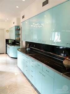 robert and caroline39s mid century home with dreamy st With how to paint metal kitchen cabinets